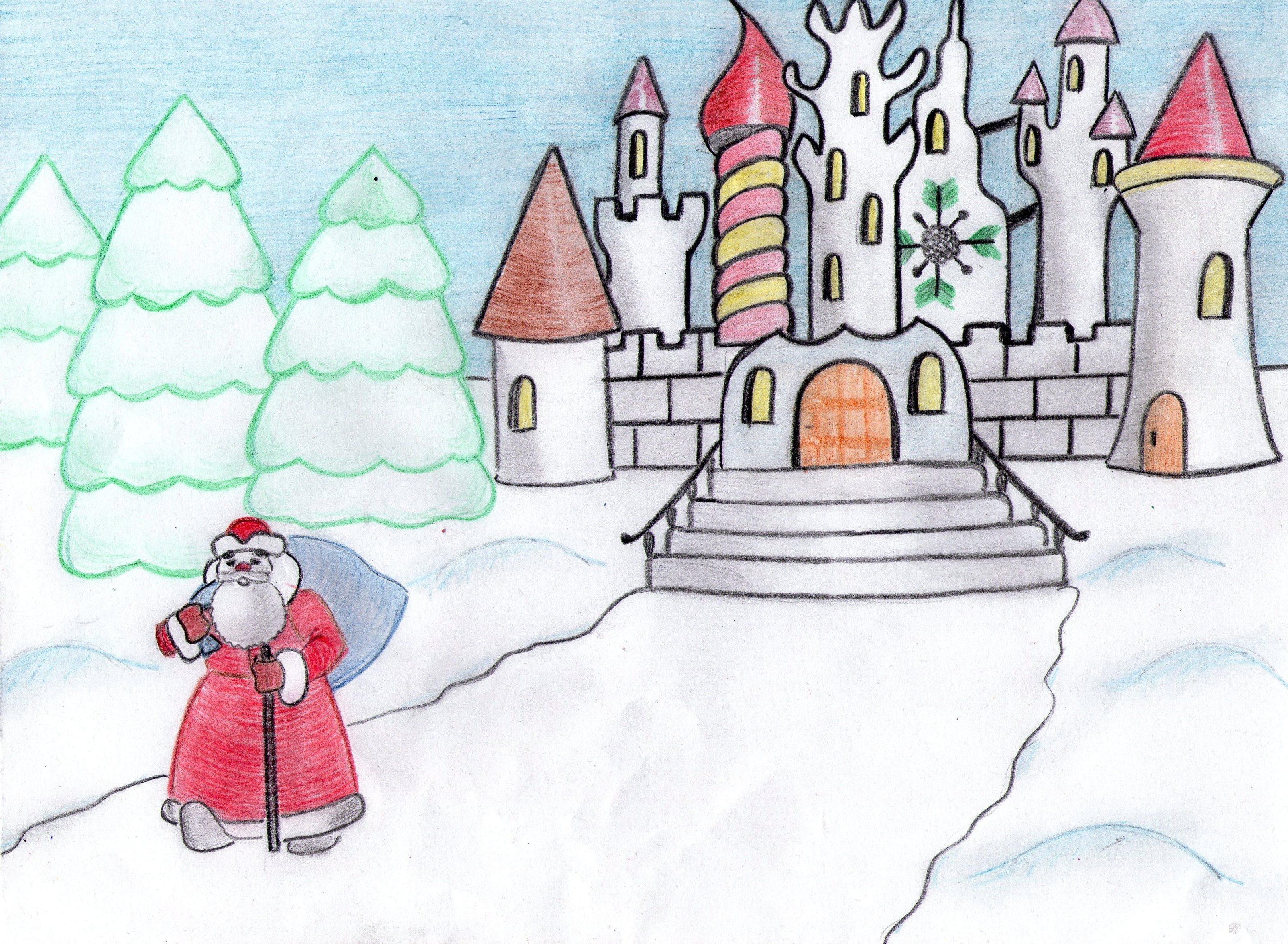 Рисунок для деда мороза своими руками 22